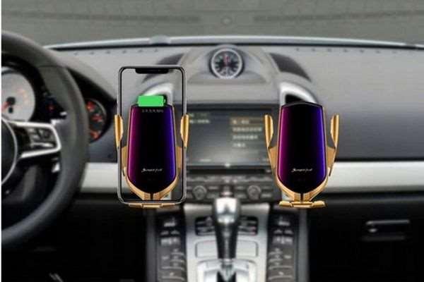 Uchwyt samochodowy do telefonu z ładowarką indukcyjną